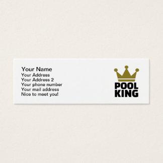 Pool billiards king mini business card