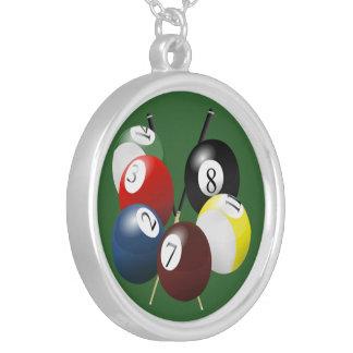 Pool / Billiards Round Necklace
