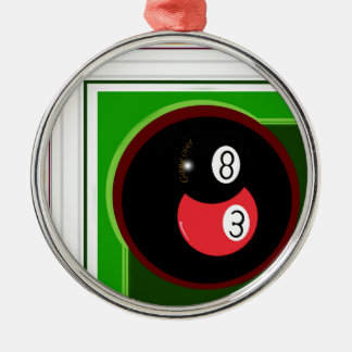 POOL BLACK AND RED BALL METAL ORNAMENT