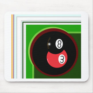 POOL BLACK AND RED BALL MOUSEPADS
