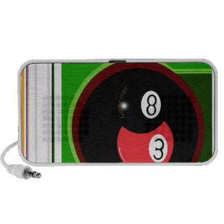 POOL BLACK AND RED BALL SPEAKER