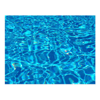 Pool Blue in the Summer HD Water Photography Post Card