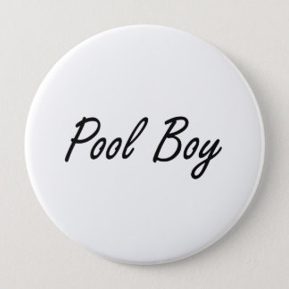 Pool Boy Artistic Job Design Button