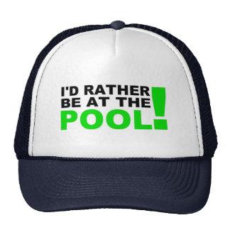 Pool cap trucker hat