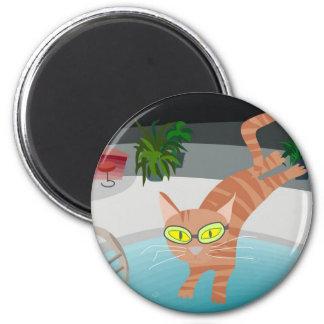 pool cat magnets