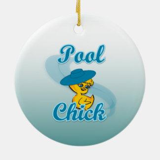 Pool Chick #3 Christmas Ornament