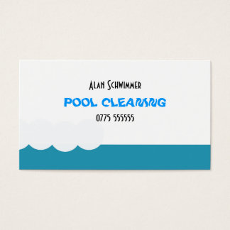 Pool cleaner business card
