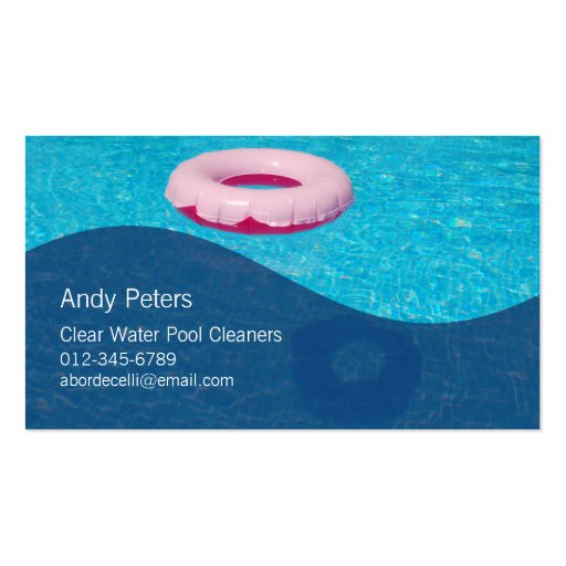 Swimming Pool Service Business Cards : Pool cleaner business card clear swimming zazzle