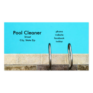 Pool Cleaner Business Card Template