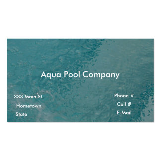 Pool Company Double-Sided Standard Business Cards (Pack Of 100)