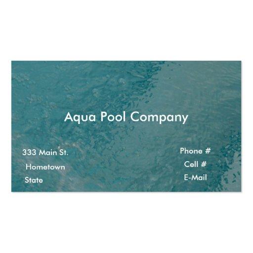 Pool Company Business Card