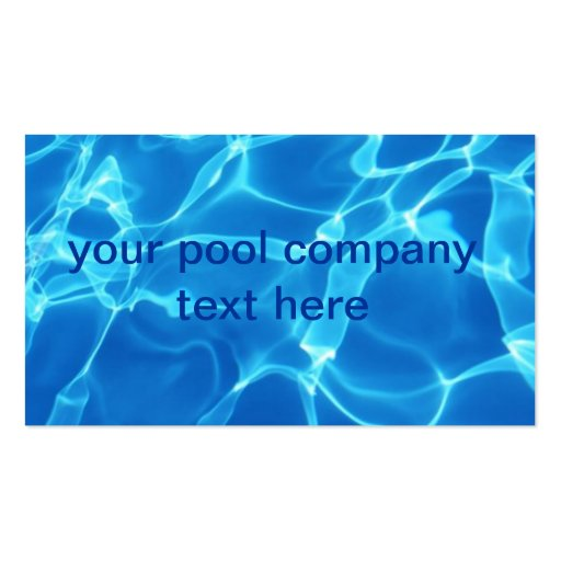 Pool company business card zazzle for Pool company business cards