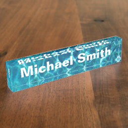 Pool Cool Blue Water Nameplate