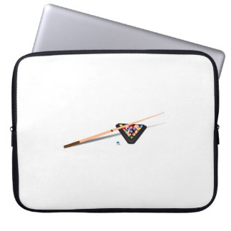 Pool Cue and Balls Laptop Sleeves