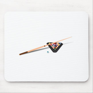 Pool Cue and Balls Mouse Pad