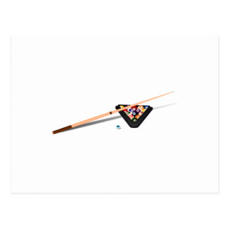 Pool Cue and Balls Post Cards