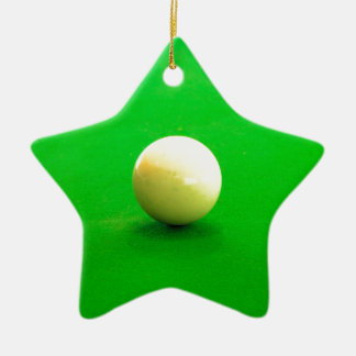 Pool Cue Ball Ceramic Ornament