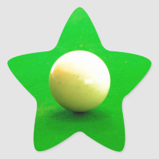 Pool Cue Ball Star Stickers