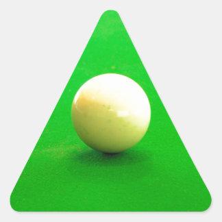 Pool Cue Ball Triangle Sticker