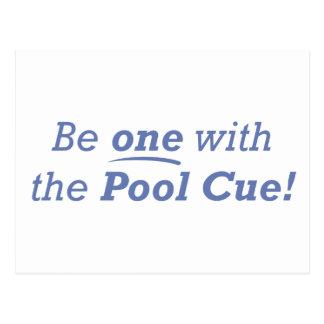 Pool Cue / One Postcard