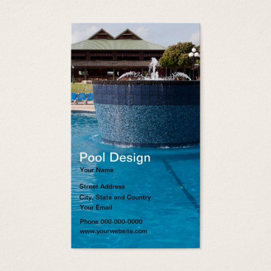 Pool design business card zazzle for Pool design company elwira kowalska