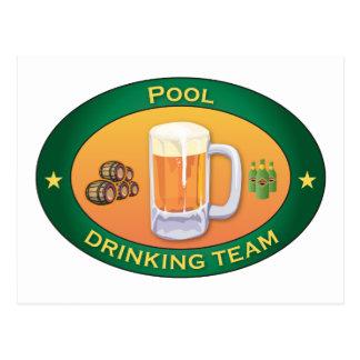 Pool Drinking Team Postcard