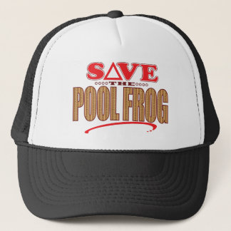 Pool Frog Save Trucker Hat