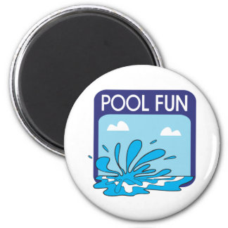 Pool Fun 2 Inch Round Magnet