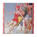 Pool Fun Vintage Ceramic Tiles