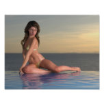 Pool Girl Reby Sky Poster