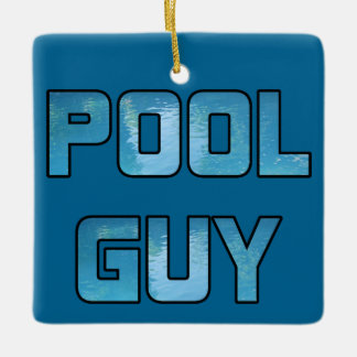 Pool Guy Ceramic Ornament