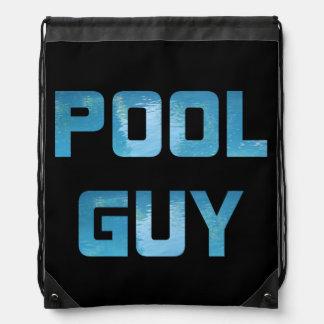 Pool Guy Drawstring Bag