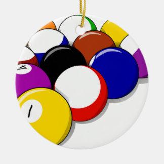 Pool Hall Balls Rack Em Sports Leisure Billiards Ceramic Ornament
