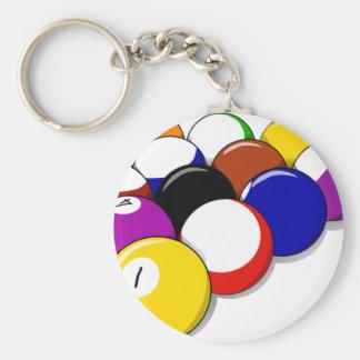 Pool Hall Balls Rack Em Sports Leisure Billiards Key Chains