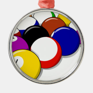 Pool Hall Balls Rack Em Sports Leisure Billiards Metal Ornament