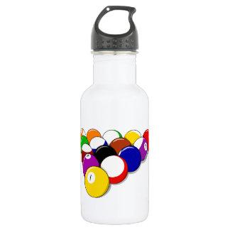 Pool Hall Balls Rack Em Sports Leisure Billiards Water Bottle