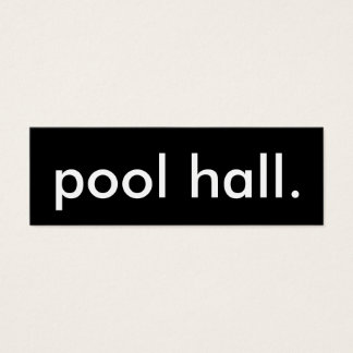 pool hall. mini business card