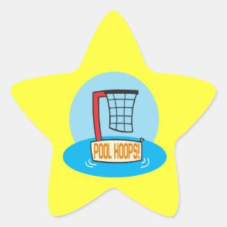 Pool Hoops Star Sticker
