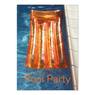 Pool Inflatable Li Lo Pool Party Invitation