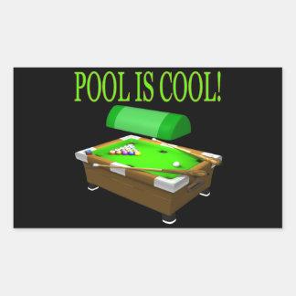 Pool Is Cool Rectangular Sticker