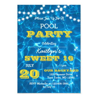 Pool Lights Citrus All Occasion Invitation