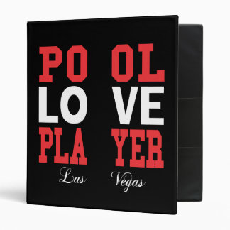 Pool Love Player 3 Ring Binder