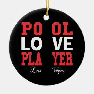 Pool Love Player Ceramic Ornament