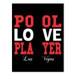 Pool Love Player Postcard