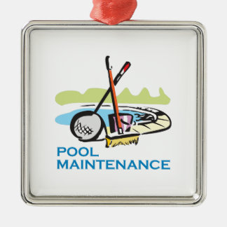POOL MAINTENANCE METAL ORNAMENT