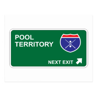 Pool Next Exit Postcard