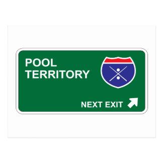 Pool Next Exit Postcard