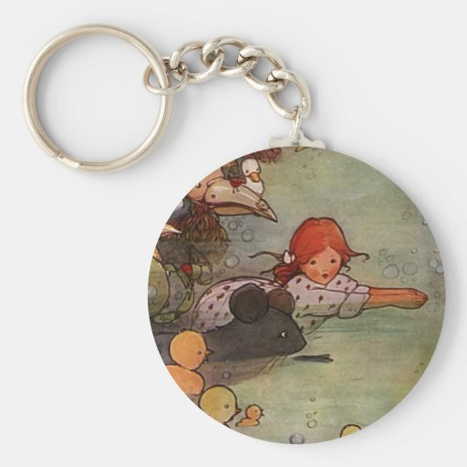 Pool of Tears Basic Round Button Keychain