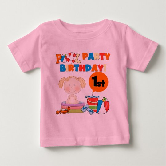 Pool Party 1st Birthday T-shirts and Gifts
