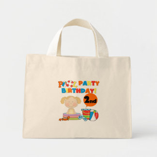 Pool Party 2nd Birthday Tshirts and Gifts Mini Tote Bag